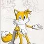 Tails Sketch by BladeRagnarok