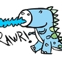 DinoRawr by Sockems