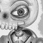 Skull Tan with a Cintiq