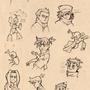 Medabots sketchdump by Duck-Empress