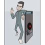 HAL9000 and Dave by spidersmiles