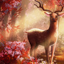 Red Forest Study by Dahlia-K