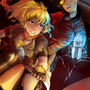 RWBY - Yang and Neptune by neverominin