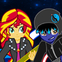 Azul Love & Sunset Shimmer by Plazmix