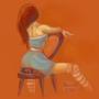 Girl Sitting by Ezzthetic
