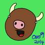 Happy cow by Ombey