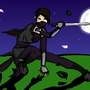 Ninja Sombrio en Pasto by DungeonKirby