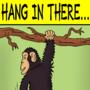 Motivational Chimp Poster by oldmanorange
