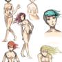 Posing/anatomy sketch dump by FLASHYANIMATION