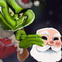 Christmas villian The grinch by sheshu