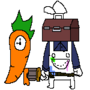 Painter and Carrot clock by Dragoz1337