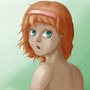 Red haired girl by EmeraldPhoenix