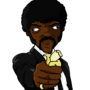 Jules Winnfield eating banana by TheIYouMe