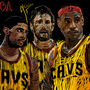 Cleveland Cavaliers big 3 by ToniLawtan