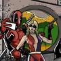 Deadpool & Harley Selfie by Breemookie
