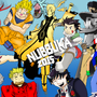 Anime Characters Wall Colored by nubbuka