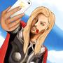 Thor Selfie by Viciwolf