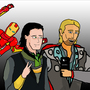 Loki and Thor Selfie by RiddhimanDey