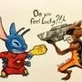 Stitch vs Rocket! by ultimatejulio