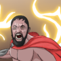 Leonidas Dining in Hell by Komix