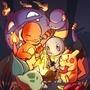 Island of Giant Pokemon by ToqaReign