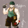 Original Character: Mickglovin by DeeSeeDraws