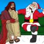 Santa Tells All To Jesus by oldmanorange