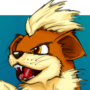 Growlithe Painting by Melangle