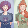 Elika and Linds t-shirts by HOLIMOUNT2
