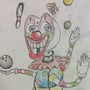 Colorful robot clown by JUSTinnator3