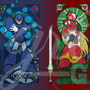 Megaman Art Nouveau Series by Grim-gate