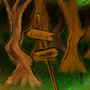 A Fork in the Woods by Rhoady