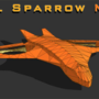 VTOL Sparrow lowpoly wireframe by Labyrinthus