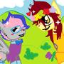 FlutterJo & Easel by lolcat256