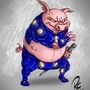 Cyborg Pork by arceeboiii