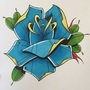 Blue rose tattoo flash by woody13886