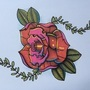 Rose tattoo design by woody13886