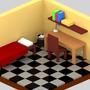Little isometric room by RazvanGabriel