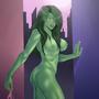 She Hulk pin up by costin55