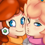 Peach and Daisy by theolebrave