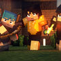 Minecraft 3 friends by VicTycoon