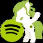 spotify Pony Icon by Wolfeirne