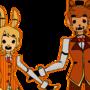 Spring Bonnie & Golden Freddy by Pozuu