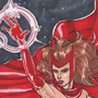 Scarlet Witch in Prismacolor by MartinMaySee