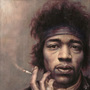 Jimi Hendrix Portrait by KevMcGivernArt