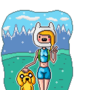 Female-Finn & Jake by ArcadeHero