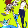 Pokemon Trainer Me and Pokemon by GunRaider