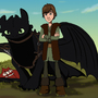 Hiccup & Toothless in 2D