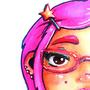 Pink Hair Self Portrait
