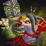 Mortal Kombat ReptileVKitana by AmmoBot-Hb